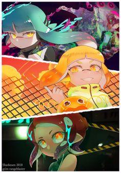 Splatoon 2 - Agents and Splatoon Memes, Nintendo Splatoon, Splatoon 2 Art, Splatoon Comics, Pokemon, Pikachu, Super Mario Bros, Cool Artwork, Anime Manga