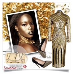 """SammyDress 6"" by zenabezimena ❤ liked on Polyvore featuring Glanz, women's clothing, women's fashion, women, female, woman, misses and juniors"