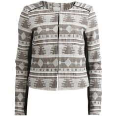 Object Collectors Item Patterned, Short-Fitted Blazer
