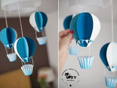 baloane cu aer cald, baloane petrecere, baloane din hartie, baby shower, petrece… - How To Make Crazy PARTY Baby Shower Decorations For Boys, Baby Shower Themes, Baby Boy Shower, Baby Showers, Shower Ideas, Baby Decor, Paper Balloon, Hot Air Balloon, Balloon Party