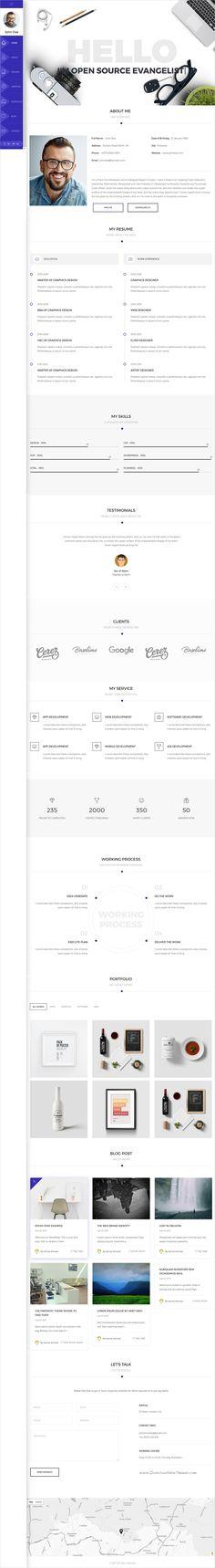 Modern CV Personal Portfolio WordPress Theme Personal portfolio - cv vs resume