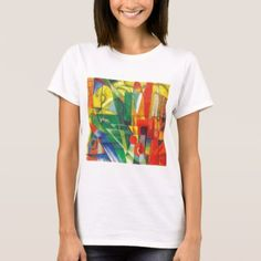 Landscape with House Dog and Cow by Franz Marc T-Shirt - animal gift ideas animals and pets diy customize