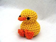 Mini amigurumi duck PDF crochet pattern by AmigurumiBarmy on Etsy, £2.00