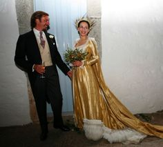 Religious wedding of Princess Olga of Greece (daughter of Prince Michael of Greece a cousin of former King Constantine II of Greece) and Prince Aimone of Savoy-Aosta in the Greek island Patmos on September 2008 Famous Wedding Dresses, Royal Wedding Gowns, Royal Weddings, Next Wedding, Wedding Looks, Greek Royalty, Style Royal, People Getting Married, Religious Wedding