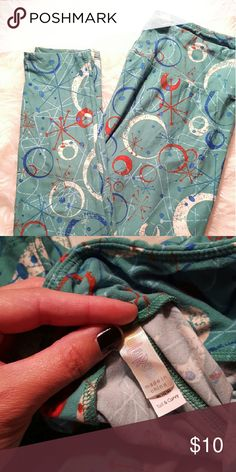 Lularoe leggings. Super cute and soft. Lularoe leggings. Made in China. Size Tall and Curvy. Excellent condition. LuLaRoe Pants Leggings