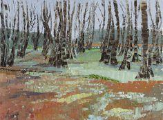 Frances Macdonald, Poltalloch Wood, March. Passing Islands - The Scottish Gallery, Edinburgh - Contemporary Art Since 1842