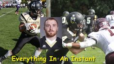 Everything In An Instant: Senior adjusts to changes for collegiate football, academic success