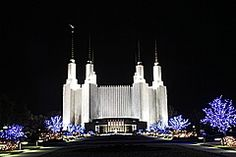 Mormon Temple in Washington DC. One of our favorite location to visit during Christmas. Over 500,000 lights, Nightly Musical Performances at 7pm & 8pm every night during the month of December at the Visitor's Center.