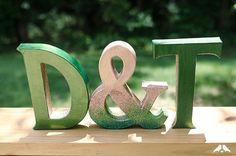 letras 3d con glitter