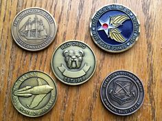 "Qty of 5 Military Challenge Coins or Tokens "" These are some of the Last ones that I have left """