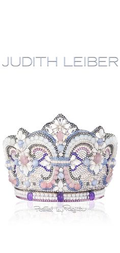 Crystal Crown Clutch Bag, Silver Multi by Judith Leiber Couture