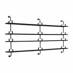Gubi Démon 4 Boekenplank Office Shelf, Modular Shelving, Perforated Metal, Black Stains, Wall Storage, Interior Accessories, Art And Architecture, Shelves, Design