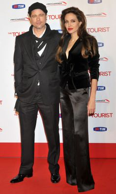 Angelina Jolie And Brad Pitt At The Tourist Film Premiere in Rome, 2010