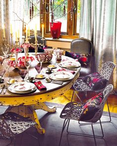 Boho Brunch #dining Room #Boho #interior Design..love The Distressed Table