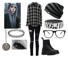 """She paints it gray, she closes her eyes - Emo Outfit"" by mrosep on Polyvore featuring Miss Selfridge and Dr. Martens"