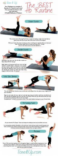 Ab workout from the Tone It Up girls abs core fitness workout exercise