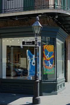 Art Gallery On Royal Street, New Orleans, Louisiana, USA