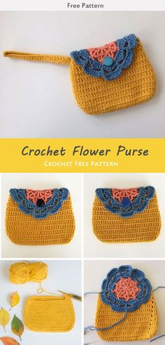 Easy Flower Purse Crochet Free Pattern This Easy Flower Bag Purse Crochet Free Pattern is a simple and cute little bag for easy storage of small items. Make one now with the free pattern provided by the link below. Purse Patterns Free, Bag Pattern Free, Handbag Patterns, Crochet Coin Purse, Crochet Purses, Crochet Bags, Crochet Wallet, Crochet Flower Patterns, Crochet Flowers
