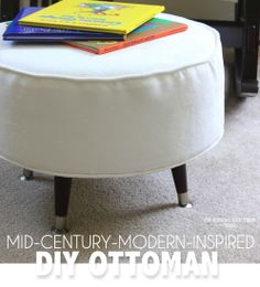The Homes I Have Made: Mid-Century-Modern-Inspired DIY Ottoman - @