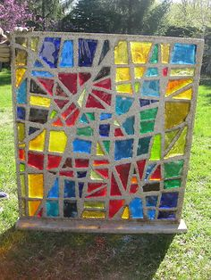 Large Dalle de Verre Stained Glass Window 1959 Architectural Salvage | eBay