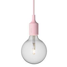 E27 lamppu, roosa