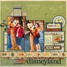 Disney Scrapbook Layout - Disneyland