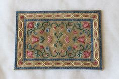 Cross-stitch rug | Jenny's Miniatures