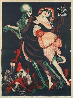 dance of death, skeleton, lady, hat, dress,
