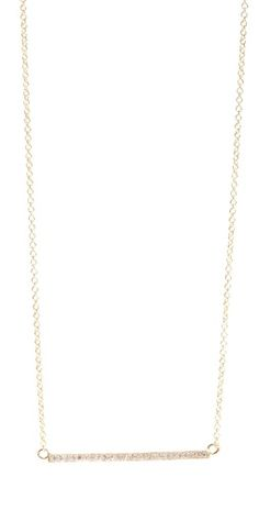 Jewelry 18k Gold Diamond Stick Necklace / Jennifer Meyer