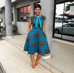 Three quarter gown, flay gown side pockets back zipper high neck,Ankara dress,women fashion, Ankara