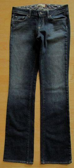 "Paige Premium Denim Jeans 27 Benedict Canyon Boot cut Slim Dark wash Lagoon 34"" #PaigeDenim #BootCut"