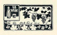 Le Vin    From Les Menus & Programmes Illustrés - Invitations - Billets de Faire-Part - Cartes d'Adresses - Petites Estampes du XVIIème Siècle jusqu'à nos jours.    By Léon Maillard. Published 1898 by G. Boudet, Paris.