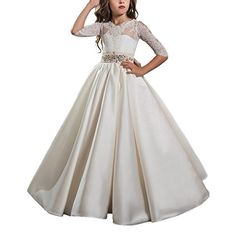 Ivory Long Sleeves Lace Up Bow Flower Girl Dresses for We... https://www.amazon.com/dp/B01M9JJIRF/ref=cm_sw_r_pi_dp_x_WrCUyb7P4CM0N