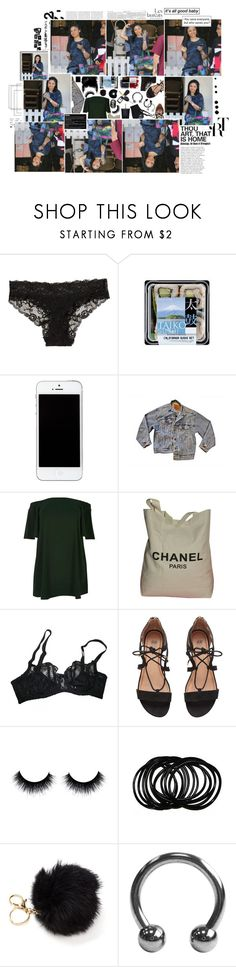"""'#.' IF I COULD FALL INTO THE SKY, DO YOU THINK TIME WOULD PASS ME BY? 'CAUSE YOU KNOW I'D WALK A THOUSAND MILES IF I COULD JUST SEE YOU TONIGHT."" by fr-uitactivist ❤ liked on Polyvore featuring H&M, Levi's, River Island, Chanel, Agent Provocateur and plus size dresses"
