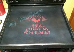 Custom stove cover - love how this one turned out
