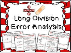 Long Division Error Analysis  { Division Center, Enrichment, or Assessment } Engage your students with 9 Error Analysis worksheets for long division. I began creating Error Analysis sheets for my students after reading about Marzano's New Taxonomy, or Systems of Knowledge. Under Analysis he lists Error Analysis as an exceptional to promote thinking and learning.   $