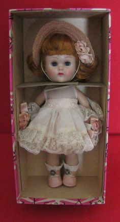 Vogue Ginny Straight Legs Walker Doll in #74 Party of Zipper styles dress. Cute! #DollwithClothingAccessories
