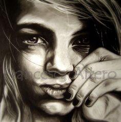 Carboncino su carta cm 50x50 2011