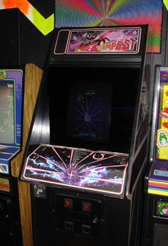 Tempest - favourite arcade game at the Broken Q, 1980's  #gaming #gamer #oldschool