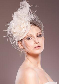dramatic wedding hat