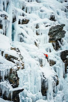 Ice climbing, New Zealand - Wye Creek is a popular destination for ice climbing near Queenstown in New Zealand. It can be a difficult sport to photograph because it can be hard to find a good angle to shoot from without climbing ahead of the leader. This was taken from a point that didn't require me to climb the ice but my hands were frozen as the temperature was well below freezing.