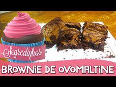 Brownie de Ovomaltine - Ingredientes:  - 200g de manteiga - 1 barra de chocolate meio amargo (cerca de 170g) - 3 ovos - 1 xícara e meia de açúcar - 2 xícaras de farinha de trigo - 2 colheres de chá de fermento em pó - 1 xícara de ovomaltine