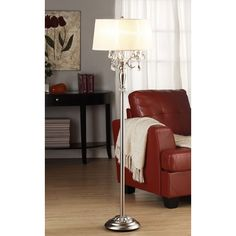 Kingstown Home Cortona Mist 1 Light Crystal Floor Lamp -  I like the crystal accents