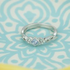 This lovely ice blue sapphire ring would look beautiful on any finger. #ShaneCo