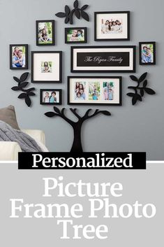 Design a visual and sentimental work of art on your wall with our Wallverbs� Our Family Personalized Picture Frame Photo Tree. #familytree #ad #personalized #photos #familypictures #familyisforever