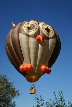 Owl balloon by Laura Rush, via Flickr, i wana go on this