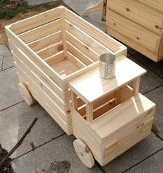 Woodworking Projects For Kids, Diy Projects For Kids, Woodworking Toys, Wooden Projects, Wooden Toy Boxes, Making Wooden Toys, Wooden Toy Trucks, Toy Box Plans, Wood Toys Plans
