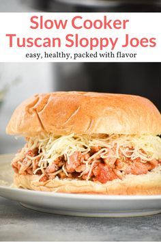 The most delicious Italian style crockpot turkey sloppy joes! Healthy, super easy to make, and amazing for sandwiches, pasta, and more! This healthy recipe from Slender Kitchen is MyWW SmartPoints compliant. Paleo Recipes Easy, Ww Recipes, Slow Cooker Recipes, Gourmet Recipes, Crockpot Recipes, Dinner Recipes, Paleo Menu, Lentil Recipes, Whole30 Recipes
