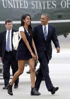 THE ANTI-TRUMP — President Barack Obama and his daughter Malia...
