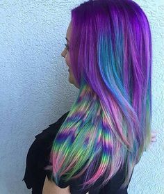 Colorful Feather Design Hair